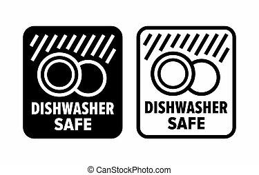 """""""dishwasher, safe"""", haute température, détergents"""