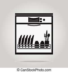 Dishwasher symbol, icon illustration