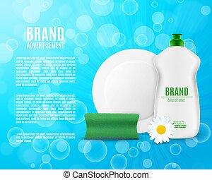 dishwashing flüssigkeit, flasche