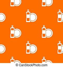 dishwashing flüssigkeit, muster, seamless, reinigungsmittel,...