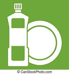 dishwashing flüssigkeit, reinigungsmittel, grün,...