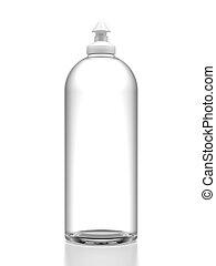 dishwashing, flasche, flüssiglkeit