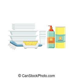Dishwashing Household Equipment Set