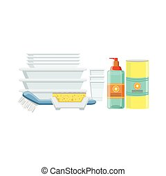 Dishwashing Household Equipment Set
