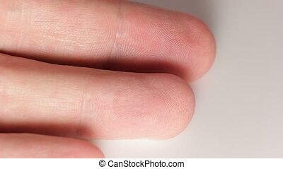 Disinfect finger