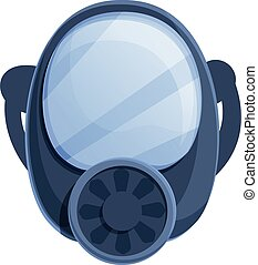Disinfection gas mask icon, cartoon style - Disinfection gas...