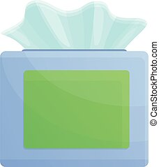 Disinfection paper napkins icon, cartoon style