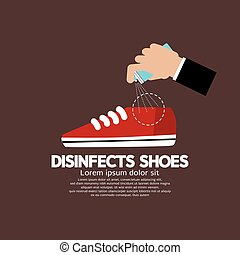 Disinfects Shoes.