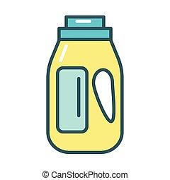 disinfettante, stile, prodotto, riempire, plastica, gallone...