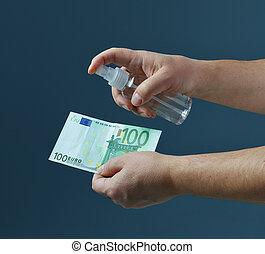 disinfezione, soldi