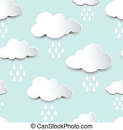 disinserimento, nubi, seamless, pioggia