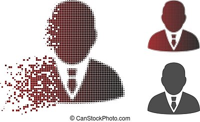 Disintegrating Dotted Halftone Boss Icon