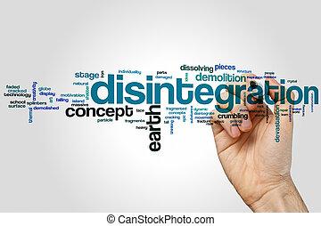 Disintegration word cloud