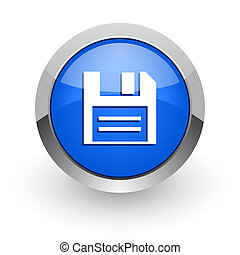 disk blue glossy web icon