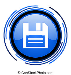 disk circle blue glossy icon