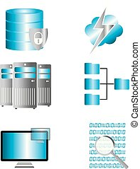 Disk Cloud Networking Icons