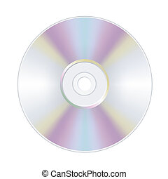 disk dvd cd isolated