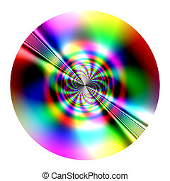 disk - fractal - Fantastic disk (fractal) similarity of CD,...