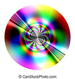disk - fractal - Fantastic disk (fractal) similarity of CD, ...