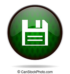 disk green internet icon