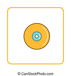 Disk icon, simple style