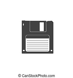 disk, icon, vector