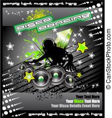 Disk Jockey Music Background - Colorful Disk Jockey Musical...
