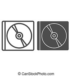 Disk line and glyph icon. Storage vector illustration isolated on white. Drive outline style design, designed for web and app. Eps 10.