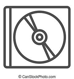 Disk line icon. Storage vector illustration isolated on white. Drive outline style design, designed for web and app. Eps 10.