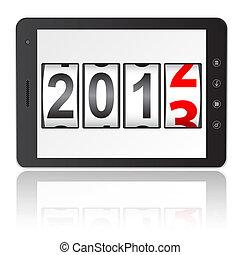 disk, persondator dator, år, färsk, kompress, 2013