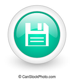 disk round glossy web icon on white background