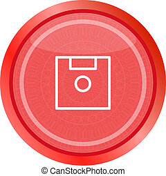 disk web button (icon) isolated on white