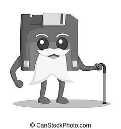 Diskette character illustration design