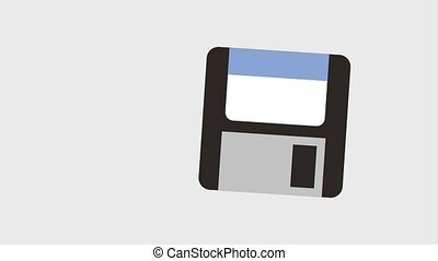 diskette or floppy disk icons animation design