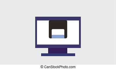 diskette or floppy disk icons - diskette or floppy disk on...
