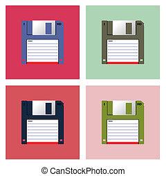 Diskette 3,5? in Pop-Art style