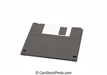 Diskette on a white background