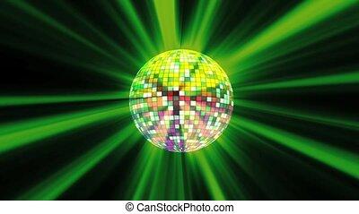disko ball green