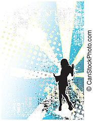 disko, blauer hintergrund, 2