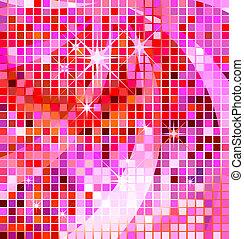 disko, grafické pozadí