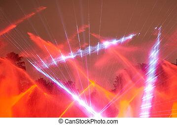 disko, laser, rotes , weisen