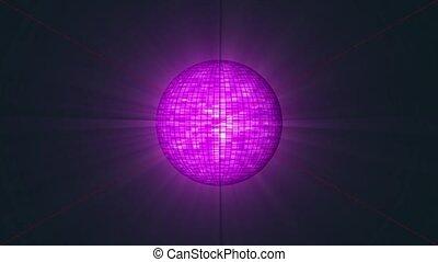 disko, schlingen, kugel, violett, color.