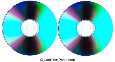 Disks isolated on a white background