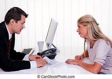 diskussion, beratungsgespräch