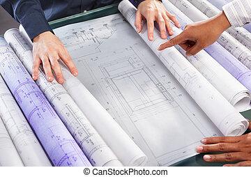 diskussion, design, aus, architektur