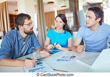 diskussion, i, workteam