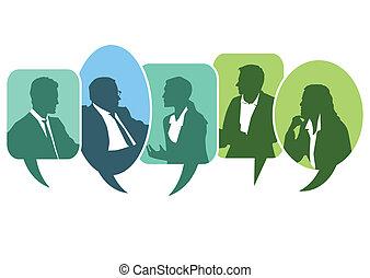 diskussion, versammlung