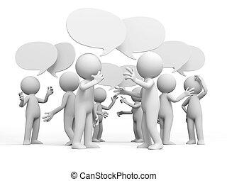 diskutieren