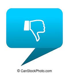dislike blue bubble icon