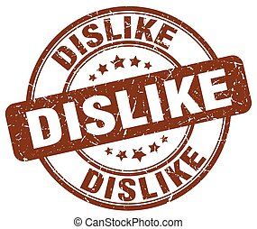dislike brown grunge stamp